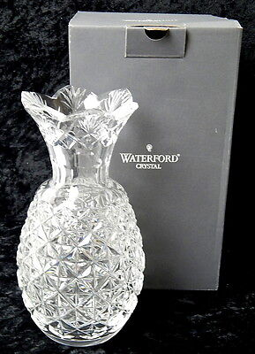 """Waterford Crystal Pineapple Hospitality Vase 8"""" Tall W/ Box Excellent Condition"""