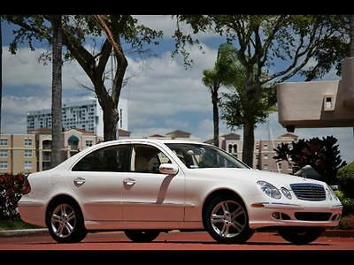 2006 Mercedes-Benz E-Class E 350 WHITE 2 OWNERS PREMIUM PKG APPEARANCE PKG SUNROOF NEW TIRES FULLY SERVICED