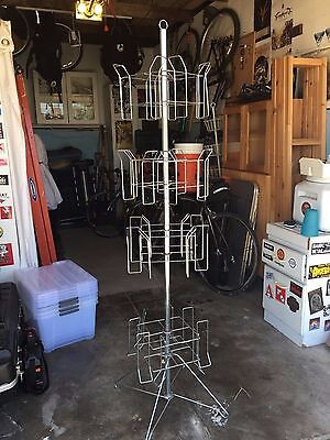 Revolving Magazine Display Stand with Four Racks