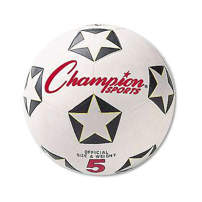 Champion Sports Rubber Sports Ball, For Soccer, No. 5, White/Blac 710858009581