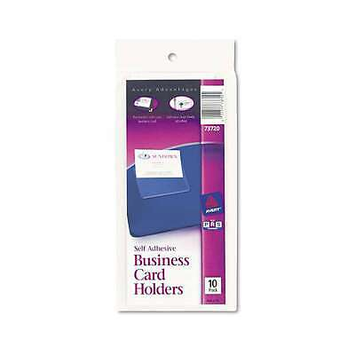 Avery® Self-Adhesive Business Card Holders, Top Load, 3-1/2 x 2,  077711737204
