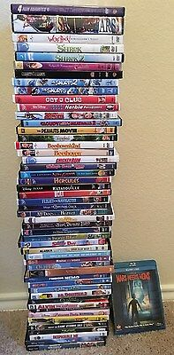 Wholesale lot 50 DVDs & 1 blu ray Children & family Disney etc. Tangled etc.