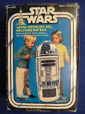 Rare Vintage Star Wars R2 D2 Inflatable Blow Up Bop Bag 1977 MIB SW