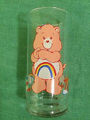 Care Bears CHEER Bear  Pizza Hut 1983 Collector's Glass