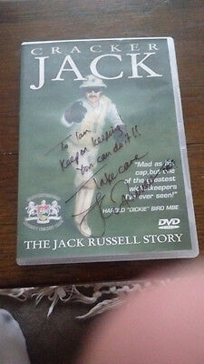 Jack Russell Cricketer wicket keeper message & signed DVD 2004