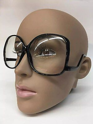 38761d9a7e Oversized Vintage Glossy Jackie O Clear Lens Eye Sun GLASSES UPSIDE DOWN  Frame