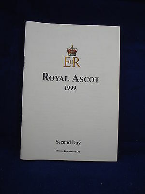 Horse racing - Race Card - Royal Ascot - Second day 1999