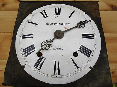 Antique French 19Thc French Comtoise Long Case  Movement, Porcelain Dial.