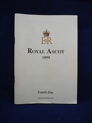 Horse racing - Race Card - Royal Ascot - Fourth Day 1999