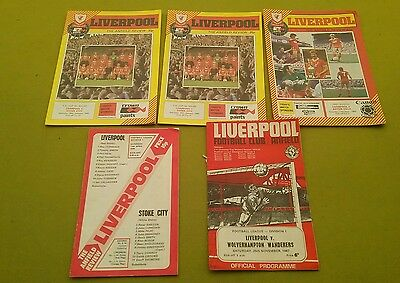 job lot of vintage Liverpool football programmes