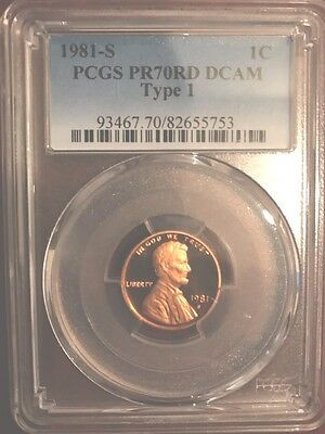 Reduced! 1981-S Lincoln Cent proof PCGS PR70 RD Deep Red Cameo DCAM Make Offer!