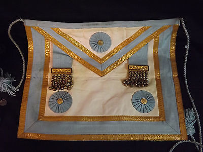 Vintage Late 1960's Master Mason Apron. Nice Condition. French Lambskin