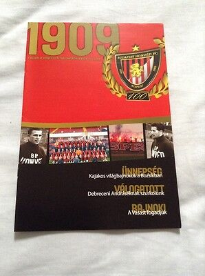 Budapest Honved v Vasas 2009/10 Hungarian League Official Programme