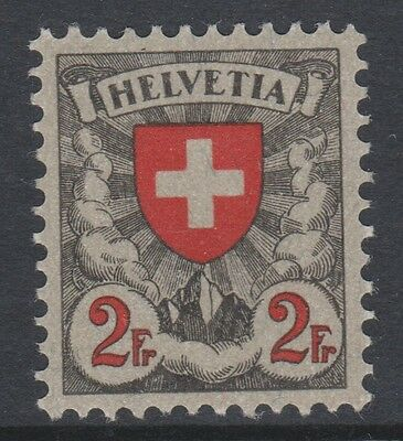 SWITZERLAND, 1924, 2Fr RED AND GREY VERY FINE MINT.