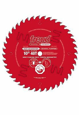"Freud P410T Next Generation Premier Fusion 10"" 40T  Saw Blade Thin Kerf"