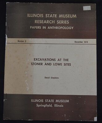 RARE Illinois State Museum Research Series Stoner Lowe Sites PB Book