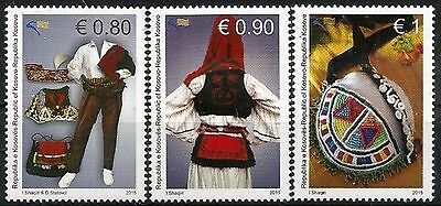 Kosovo Stamps 2015. National clothes, Folk Costumes of Drenica. Set MNH.