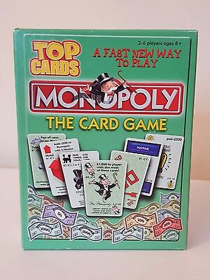 Top Cards -  Monopoly the Card Game. Excellent. Complete. Travel.