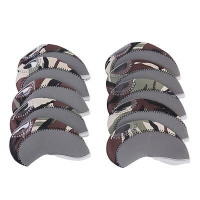 10 Pcs/set Golf Iron Club Head Covers,TaylorMade, Callaway,Ping ,Gray&Camouflage