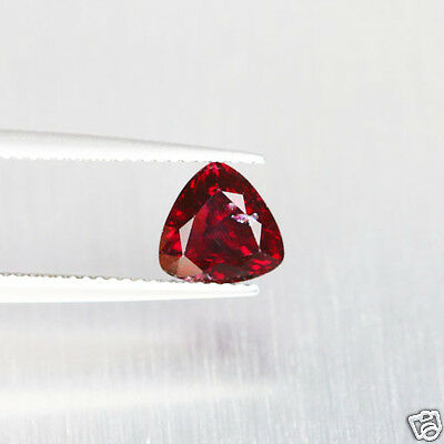 2.51 Ct Excellent Pinkish Red Rhodolite Garnet Natural Trillion Natural Gem 100%