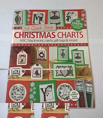 Christmas cross stitch charts for cards and tags
