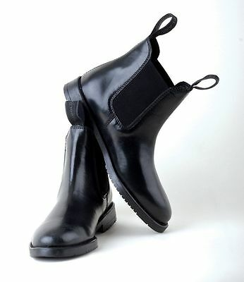 Rhinegold Leather Short Adults Ladies/Mens Riding Jodhpur Boots With Elastic