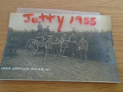 Army Soldiers Louth Camp Lincolnshire.  RP  July 1910 ( Military)