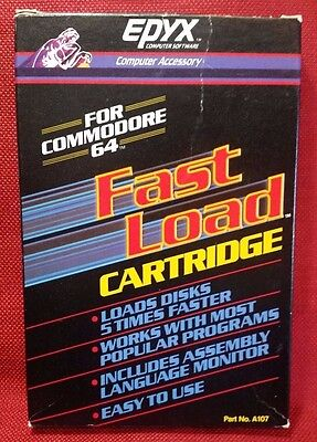 Vintage Epyx Fast Load Cartridge for Commodore 64 - Incld Original Box & Manuals
