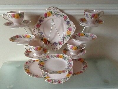 Tuscan Fine Bone China - Tea Set Baby Pink And Floral