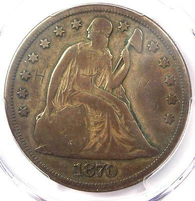 1870-CC Seated Liberty Dollar $1 - PCGS VG Details - Rare Carson City Coin!