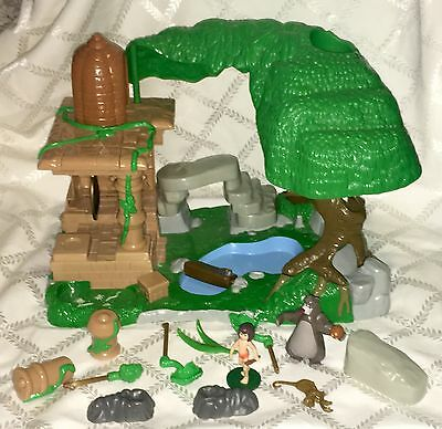 DISNEY'S THE JUNGLE BOOK PLAYSET Disney Store Exclusive w/ Figures Sounds Lot