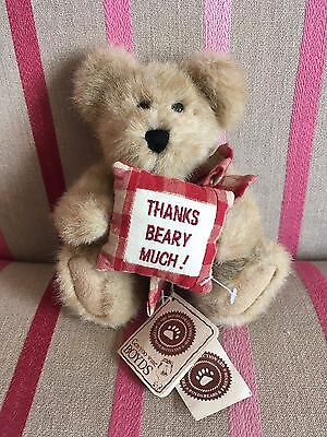 "Boyds Bears Plush 8"" Jointed Bear MERCI BEARCOO Thanks Beary Much! with Tags"
