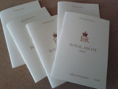 """Race Cards, """"ROYAL ASCOT"""" 2017  all 5 days"""