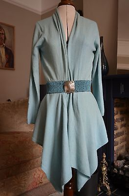 Ladies Lochmere cashmere cardigan blue size 14 waterfall cardigan