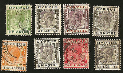 1920s BRITISH CYPRUS KING GEORGE V OLD STAMPS READABLE DATED POSTMARKS