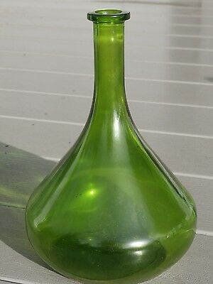 Emerald Green Wide Base,long neck liquor/wine bottle-decanter