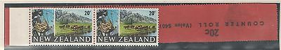New Zealand 1969 20c Coil Pair UMM MNH with Lead