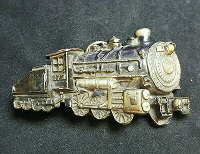 The Great American Belt Buckle Company 1980 Limited Edition Train Belt Buckle