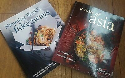 2 slimming world books fakeaways and taste of asia cook