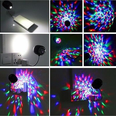 Colorful Magic Crystal Ball RGB Stage Effect LED USB Lamp Color Light Lamp