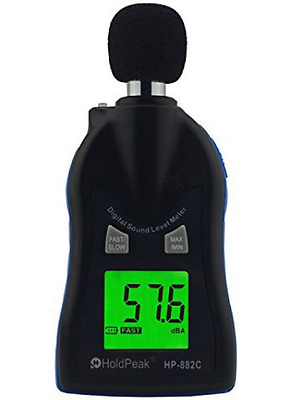 Holdpeak 882C Digital Decibel Sound Level Meter Tester 30 dBA - 130 dBA