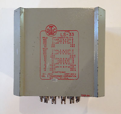 UTC-LS-33 High Level Matching Transformers 20W 10Hz - 40KHz