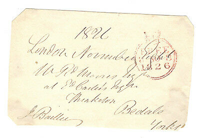 1826 - Pre-Stamp - Free Front - 8th Nov 1826 to Bedale - Front Only