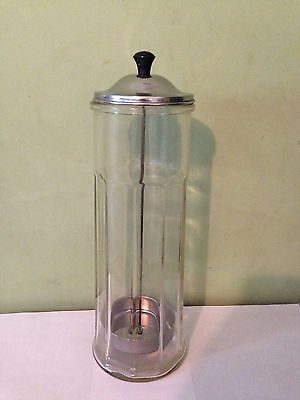 "Vintage Bloomfield Industries 13"" Soda Fountain Ice Cream Parlor Straw Dispenser"