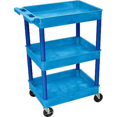 Luxor 3-Shelf Tub Cart, Blue