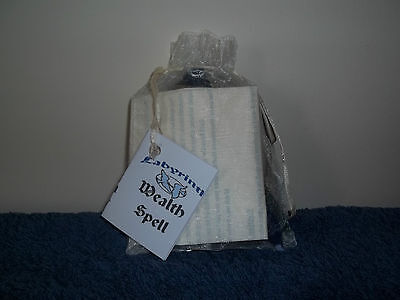 Wealth Charm Candle Magick Pagan/Wiccan New With Full Instructions