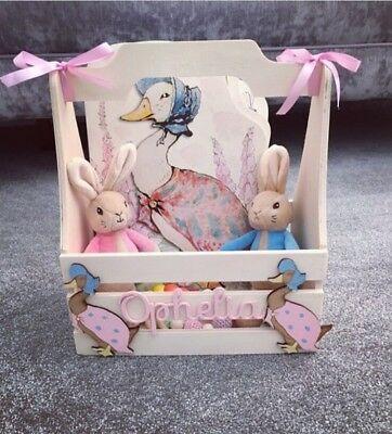 Personalised Peter Rabbit Jemima Puddleduck Beatrix Potter Book Crate Gift