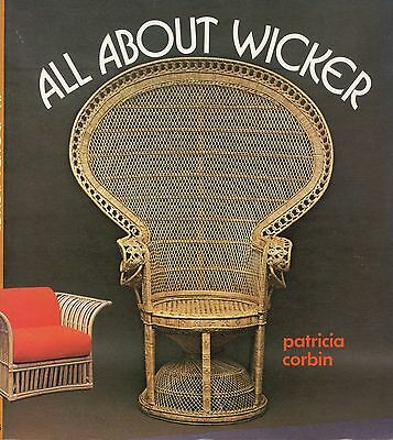 Antique Wicker Furniture - Types Makers Dates  / Scarce Illustrated Book
