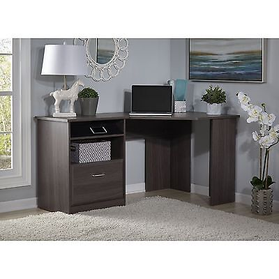 Bush Furniture Cabot Collection Corner Desk Heather Gray
