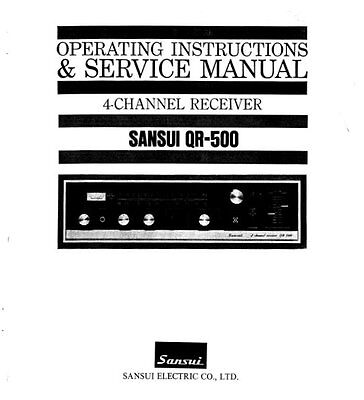 Sansui Qr-500 4Ch Receiver Operating Instructions And Service Manual Printed Eng